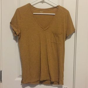 Madewell t-shirt in gold